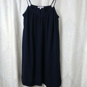 Banana Republic Navy Midi Slip Sheath Dress Sz 10